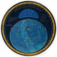 Otočná mapa hvězdné oblohy 23.5x23.5cm