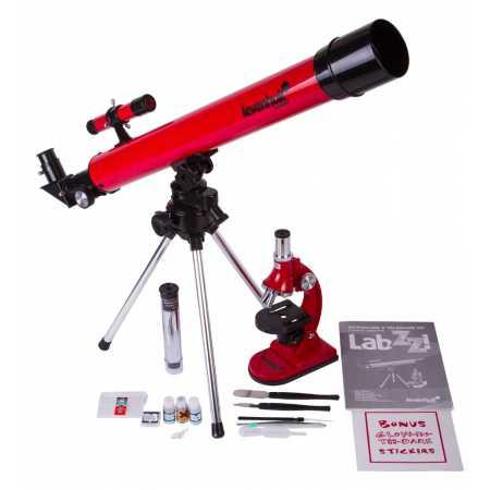 Sada mikroskopu 75x-900x a teleskopu 50/500 Levenhuk LabZZ MT2