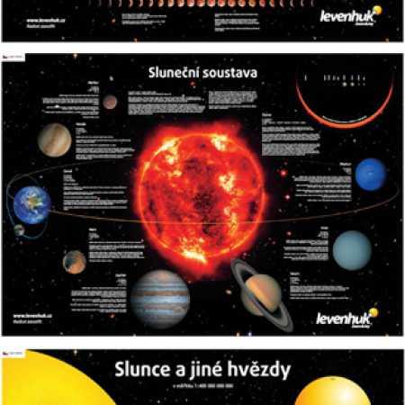 Sada plakátů Levenhuk s vesmírnou tématikou