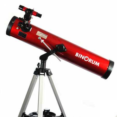 Hvězdářský dalekohled Binorum Genesis 76/700 AZ2 + Měsíční filtr
