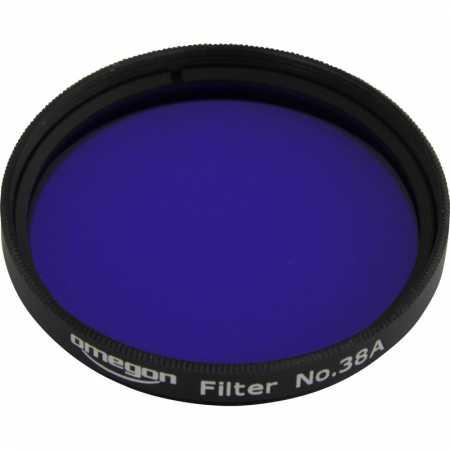Filtr Omegon #38A 2″ colour, dark blue
